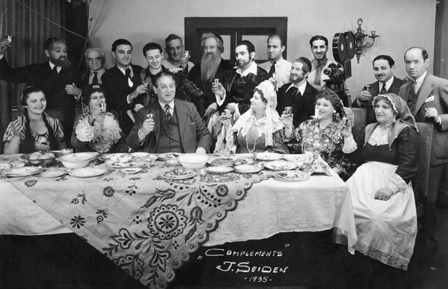 Dull and Static: This photograph of the 1935 film cast of ?The Yiddish King Lear? is compements [sic] of director Joseph Seiden. The play was better received than the film.