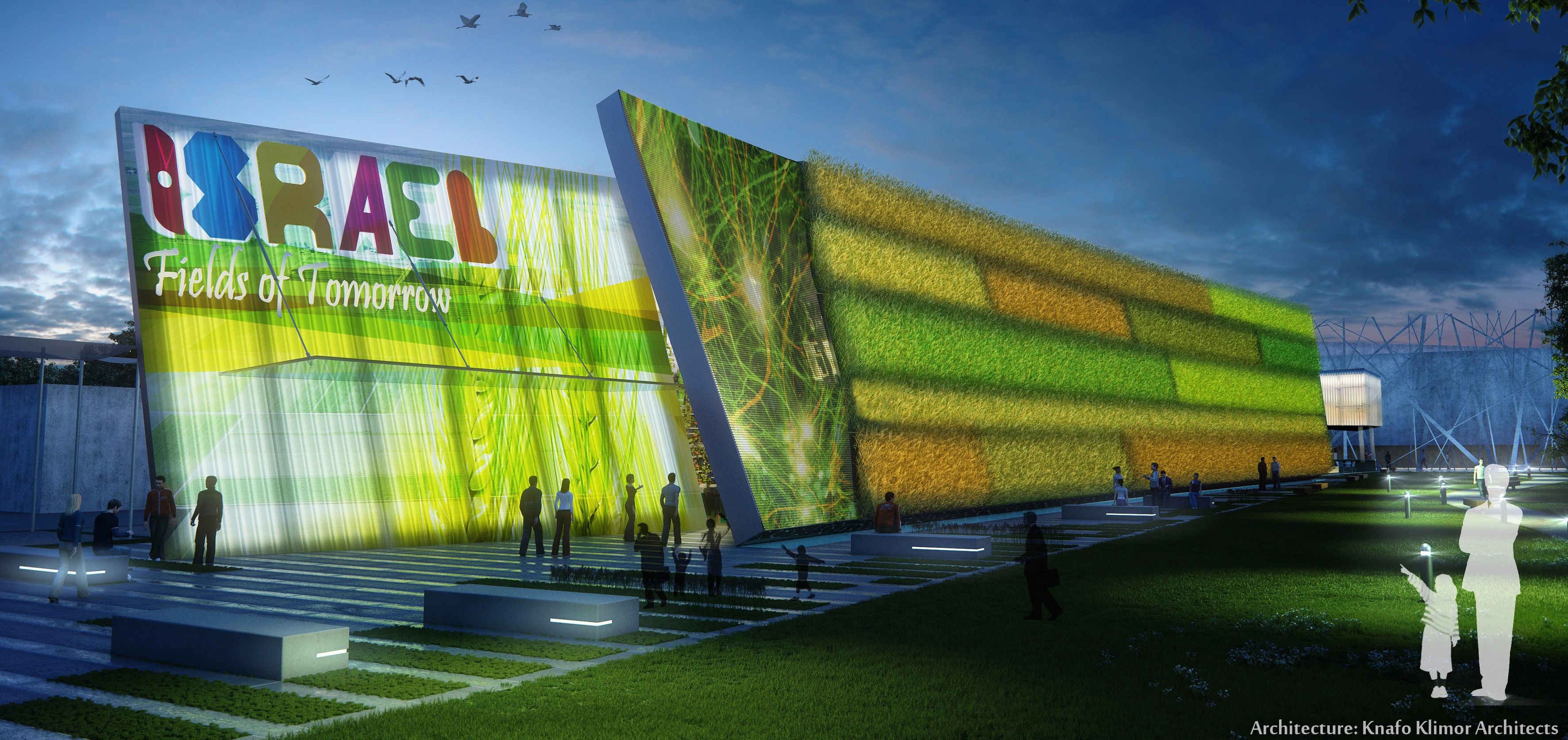 Vertical Garden: At Expo 2015 in Milan, Israel will be represented by a futuristic billboard made of wheat, rice and corn.