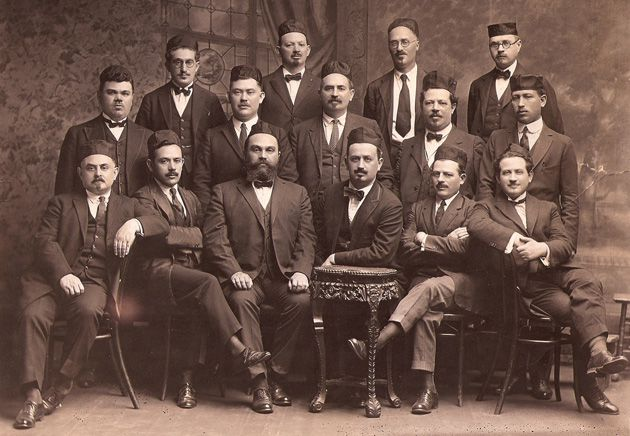 Serious Singers: The Cantors, Choristers and Ministers Guild sit for a picture in, or around, 1903.