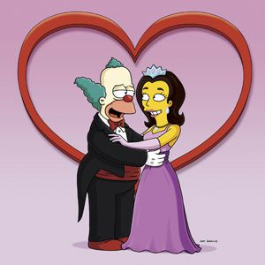 Romance blooms: ?The Simpsons? Krusty the Clown marries his non-Jewish co-host.