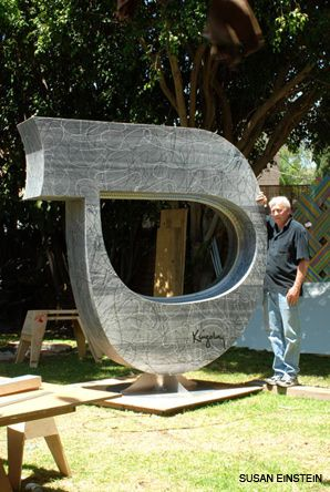 Alphabetical: A sculpture by Kingsley was commissioned to celebrate Israel?s 60th.