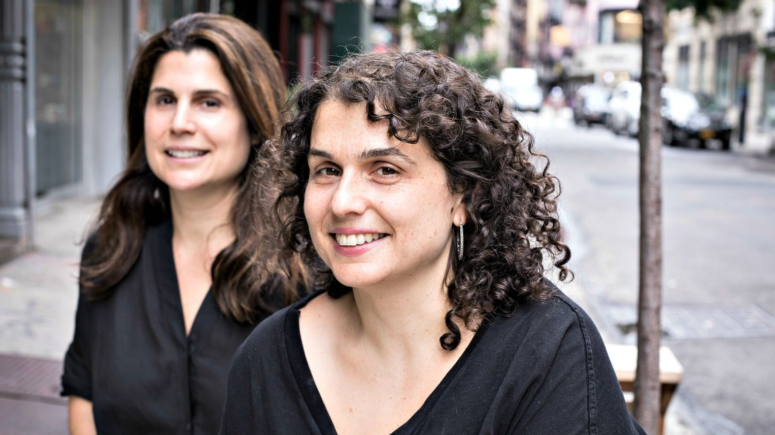 The Kubersky sisters, Sara (left) and Erica.