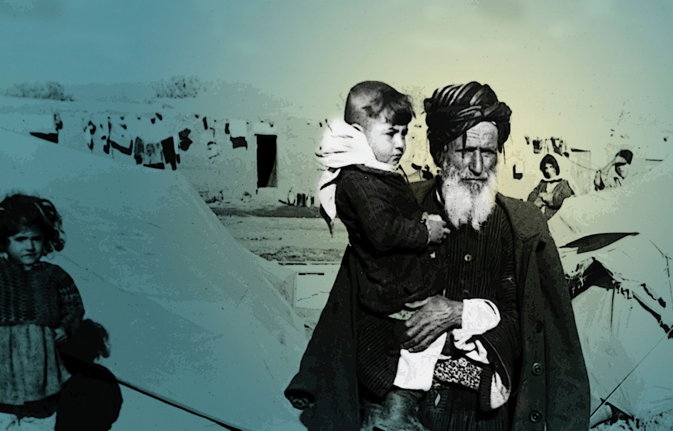 Kurdish Jews upon arrival to Israel.