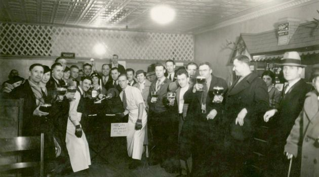 This One?s For You: In 1933, Leeb?s Tavern held a ?Death to Prohibition? celebration.