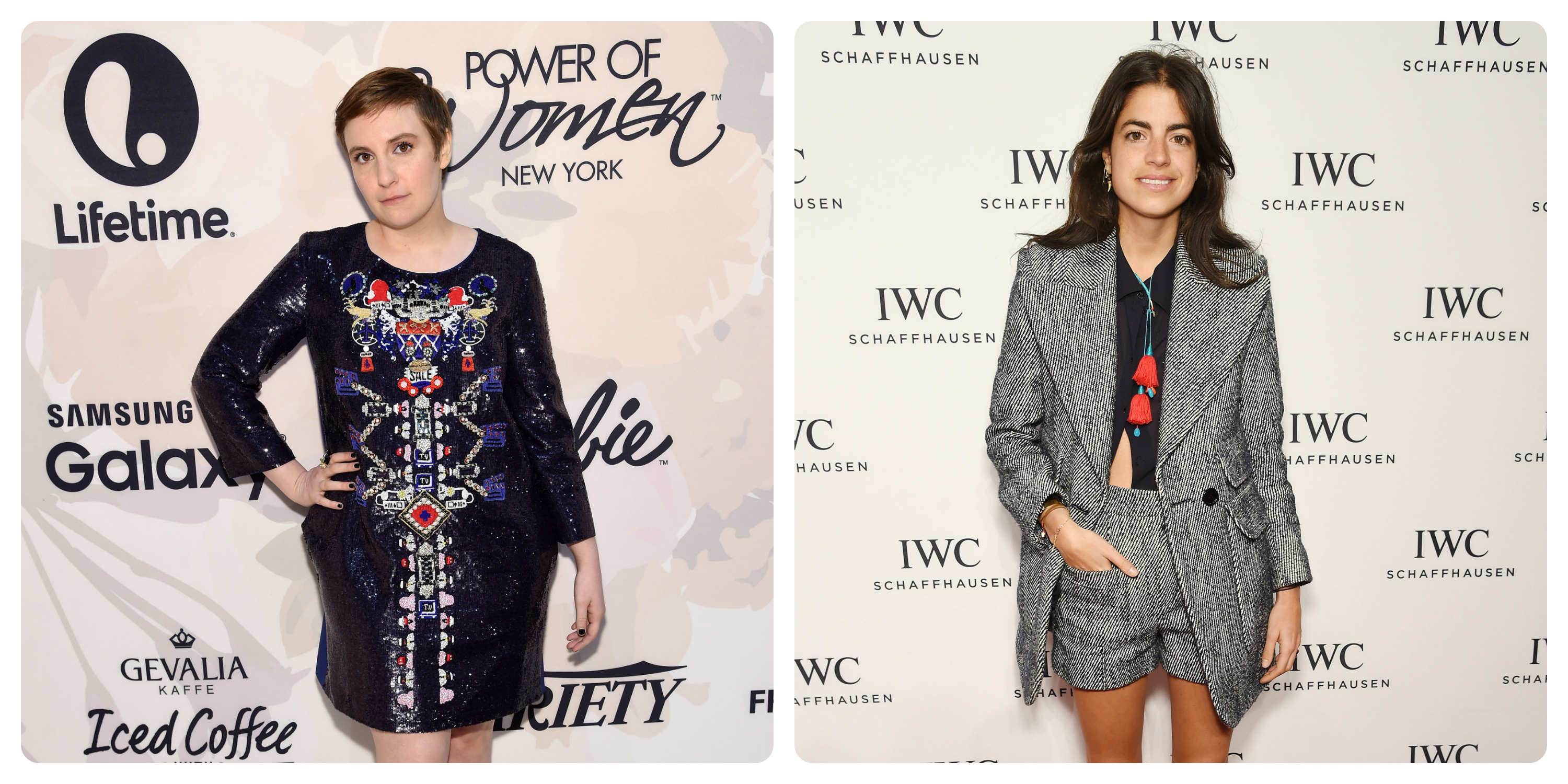 Lena Dunham (left) and Leandra Medine (right)
