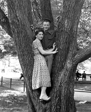Risks: Markus Lerner, pictured here in 1952 with his wife, Ethel, survived the war only to die of colon cancer at age 51.