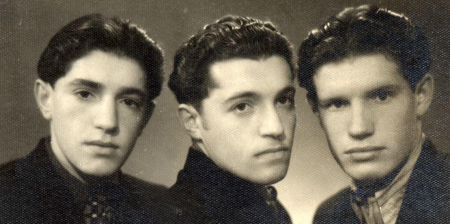 Yankel, Simon and Mende Dudakas, in Kaunas, Lithuania, in 1953.
