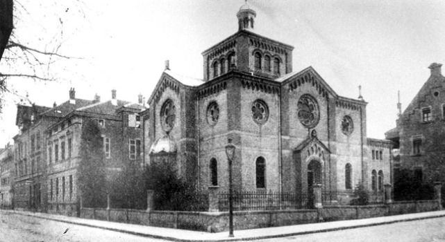 Nazi Pogrom: The Ludwigsburg Synagogue was destroyed during Kristallnacht.