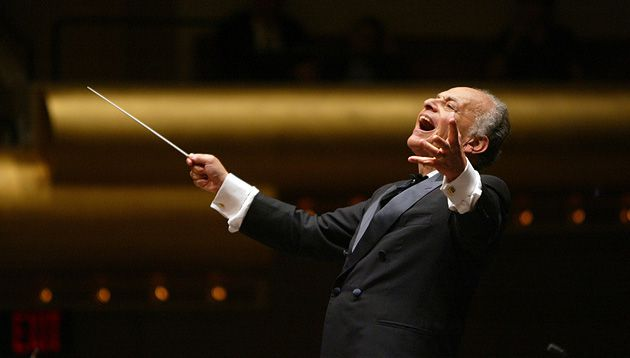 Maazel Tov: Lorin Maazel enjoying another well-remunerated performance with the New York Philharmonic.