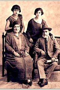 Amit's grandmother, 'Madame Donna,' pictured back left, was born in Istanbul and moved to Israel. Her recipes inspired the menu at Vino Levantino