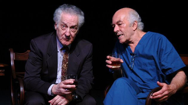Odd Couple: Mark Margolis (right) as Bernard Madoff, talking with Howard Green, who plays an Elie Wiesel-like character named Solomon Galkin.