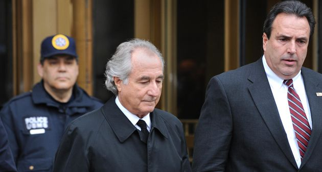 Just Deserts? As disgraced financier Bernard Madoff (center) awaits sentencing, his victims try to imagine a punishment that would fit the crime.
