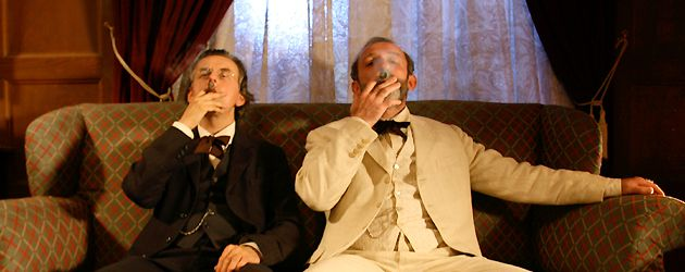 A Cigar Is Never Just a Cigar: Freud (Karl Markovics, right) and Mahler (Johannes Silberschneider) taking it easy on the couch.