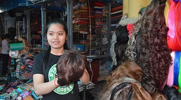 Growing Business: Jewish customers are a small but important base for companies selling hair in Phnom Penh, Cambodia.