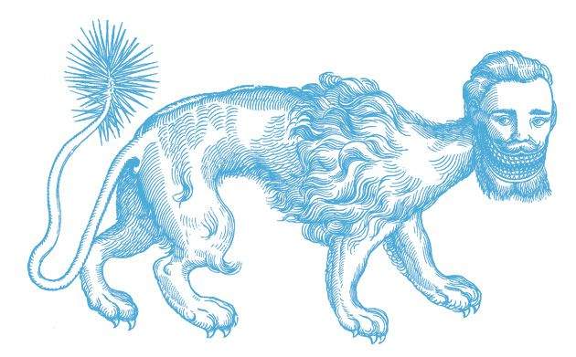 Toothsome: A Manticore, or man-eater, on the prowl.