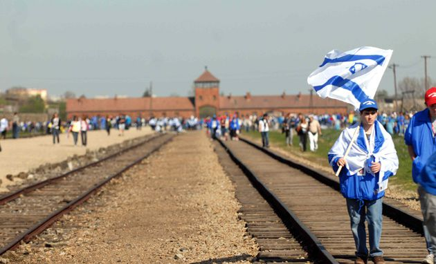 Jewish Identity: March of the Living participants visiting Auschwitz in April, as part of a tour of Nazi death camps in Poland before they fly to Israel.