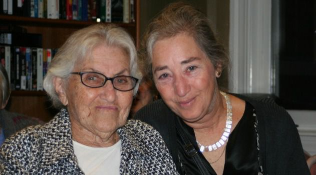 Generations: The author (right) sits with her mother, Betty Morganroth.