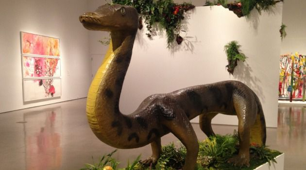 Dino-Mite:Mark Dion's 'The Serpent Before the Fall' is on display at MOBIA's 'Back to Eden' exhibit on the Upper West Side of New York.