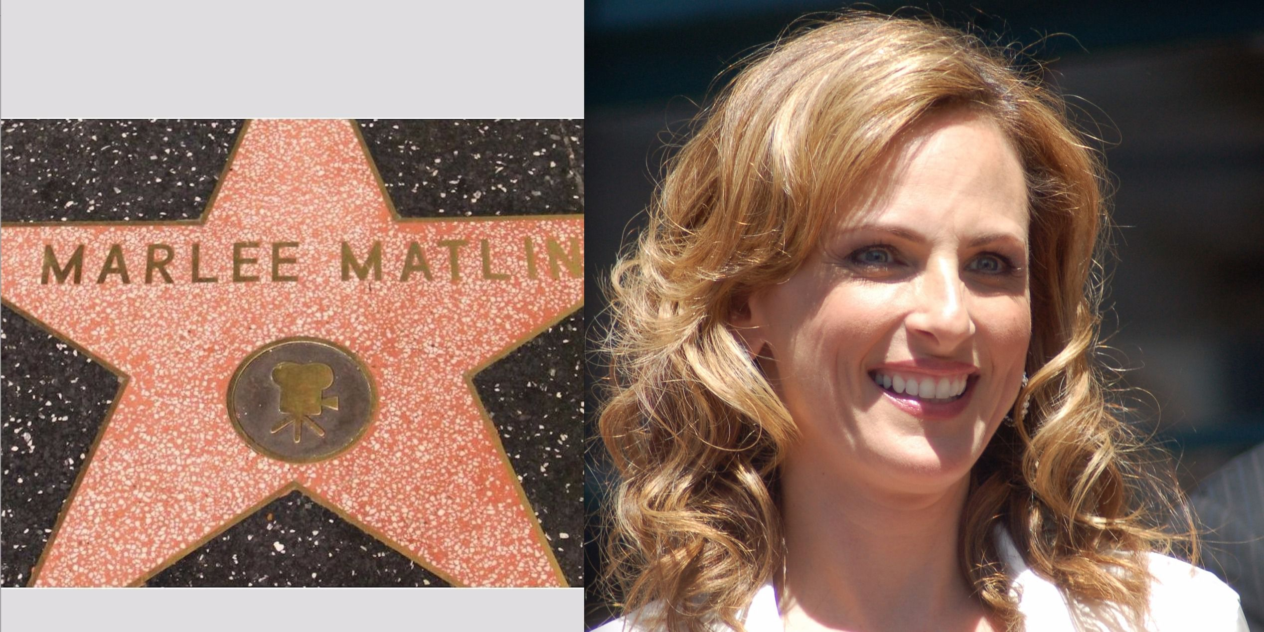 Hollywood Star: Actress Marlee Matlin receiving a star at the Hollywood Walk of Fame.