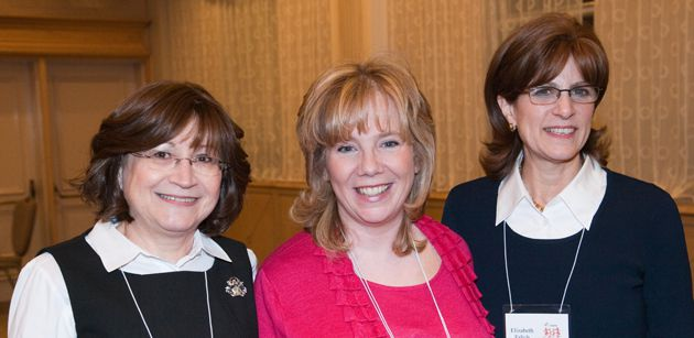 ?Angels?: From left, Clara Shore, a L?Chaim member, and co-chairs Marsha Urowitz and Elizabeth Erlich. Urowitz was a phone buddy for a year with Rivka Rita Ittleman after she was diagnosed with breast cancer.