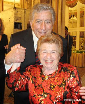 Strike a Pose: Tony Bennett with Ruth Westheimer.
