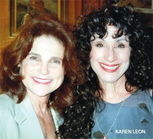 On Stage: Tovah Feldshuh (left) and Diane Ackerman.