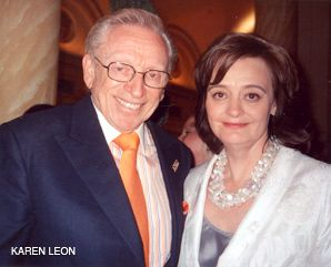Outstanding: Larry Silverstein with Cherie Blair, the keynote speaker at the UJA-Federation event.