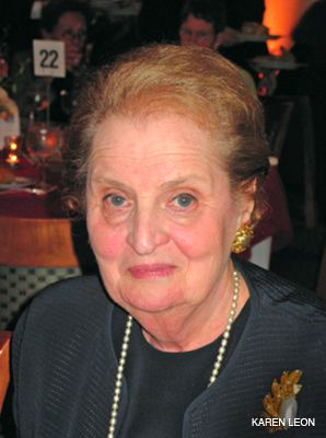 HATS OFF: Madeleine Albright was honored at the event.