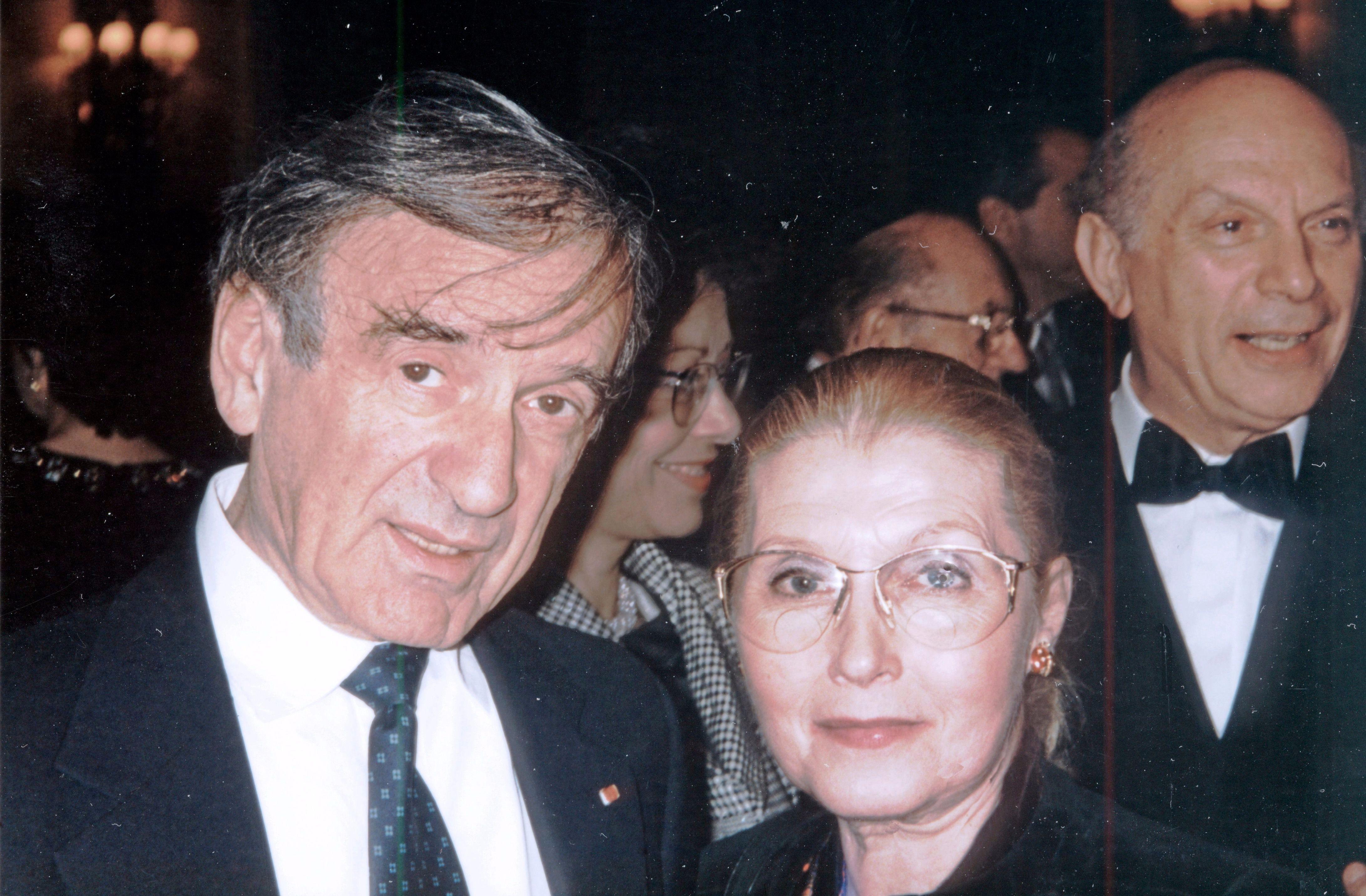 Leon with Elie Wiesel.
