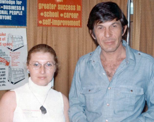 Masha Leon and Leonard Nimoy, 1973.