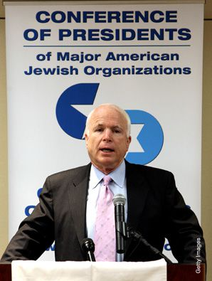 ON TOPIC: John McCain stuck with Iraq in front of Jewish communal leaders.