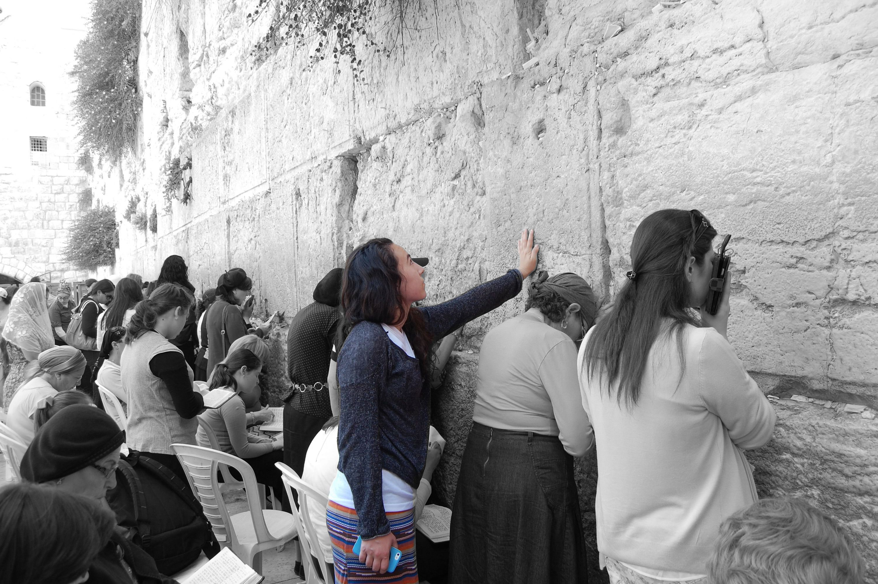 The author at the Western Wall, 2014.