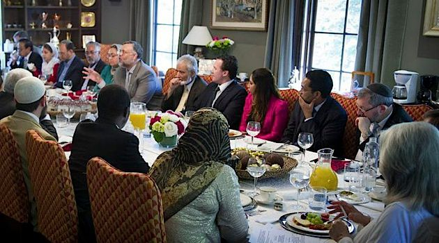 Breaking Bread: Leaders of the South African Muslim and Jewish communities meet at the South African ambassador?s residence in Washington to try to rebuild relations.