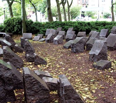 Remembrance: At Brooklyn?s Holocaust Memorial Park, inscriptions on memorial stones tell visitors the stories of inidividuals murdered by the Nazis. The victims were all Jews, up to now.