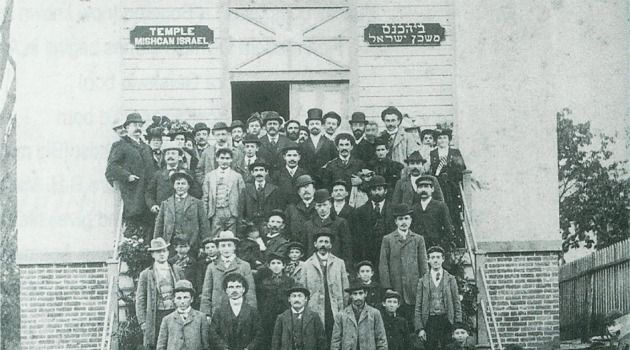 Men in Black: The 19th-century immigrants of Sag Harbor called their first synagogue Mishcan Israel.
