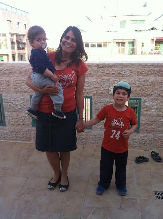 Merav with Yoav and Eitan