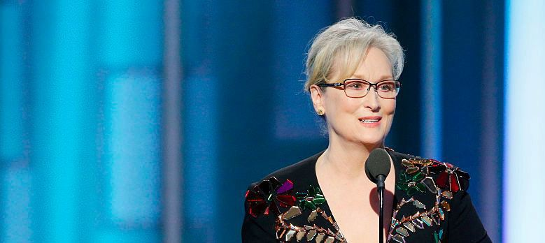 Meryl Streep at the Golden Globes.