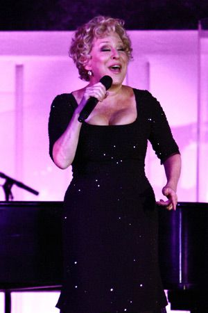 The Divine Miss M: Bette Midler serenades the crowds at the museum gala November 13.