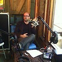 Mitchell Davis in the Heritage Radio Studio