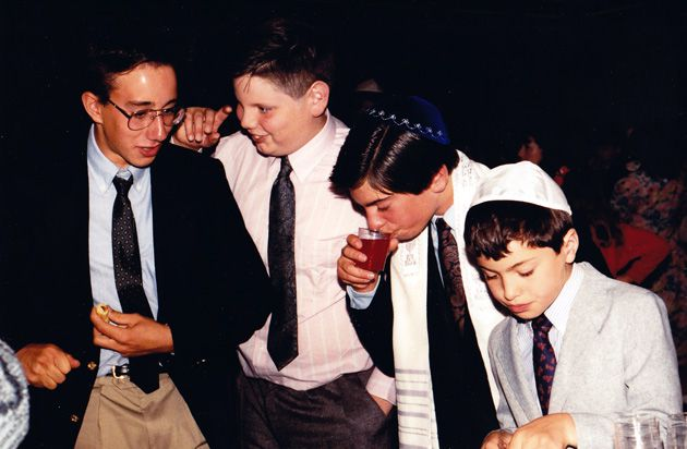 Frozen in Time: The California-based photographer Kevin Friedman, second from right, at his bar mitzvah in 1980.