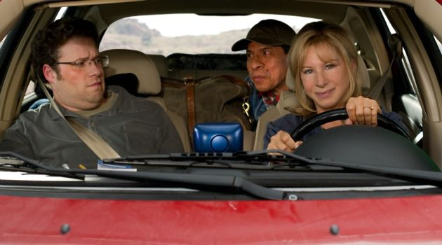 On the Road: Seth Rogen and Barbra Streisand play a stressed out mother and son in ?The Guilt Trip.?