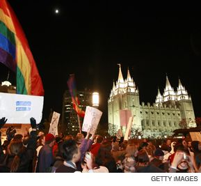 ANGER: The Mormon church has faced protests for its support of California?s Proposition 8, which banned gay marriage in the state.