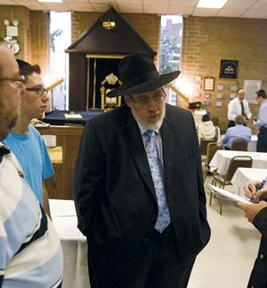 Evicted: Rabbi Moshe Toiv remains ?desperately prayerful? that his congregation, Machzikei Torah, will find a new home.
