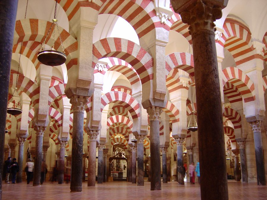 Exquisite Columns: The Great Mosque of Córdoba, now known as the Catedral de Nuestra Señora de la Asunción (?Cathedral of Our Lady of the Assumption?), is ? in any religion ? awe inspiring. [Click for larger view]