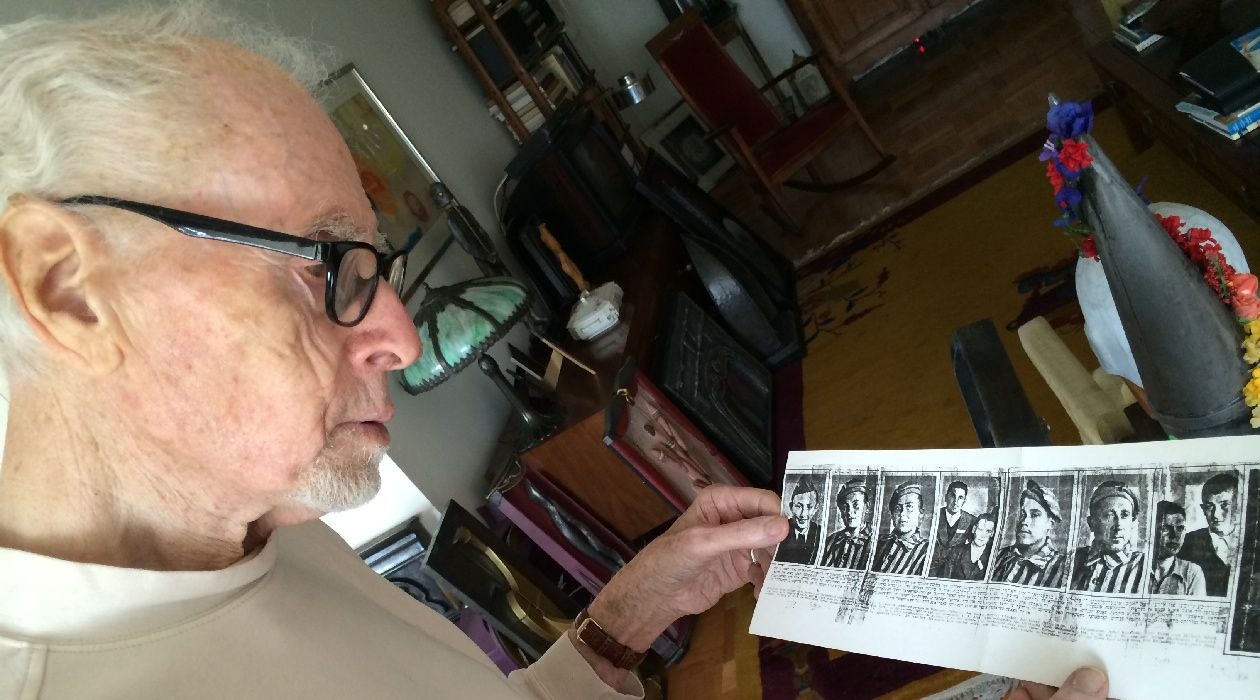 Looking Back: Towards the end of his time in the war, Jay Moss (then Moskowitz) met Holocaust survivors from Dachau and Buchenwald. Some provided him with photographs and asked him to find a way to share them with their relatives. Those pictures appeared in the October 14, 1945 issue of the Forverts.