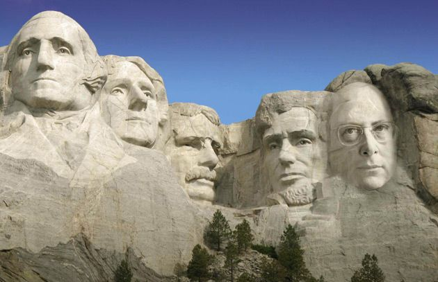 Founders: Seth Lipsky, the author of the new book ?The Citizen?s Constitution: An Annotated Guide,? wasn?t a founding father, but he is the founding editor of the Forward?s English-language edition. His image, at far right, has been chiseled via Photoshop into Mount Rushmore.