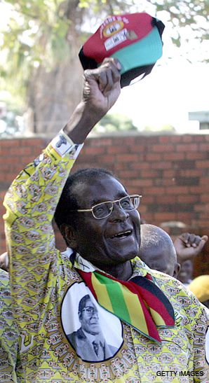 MUGABE: The country?s longtime president at a recent campaign event.