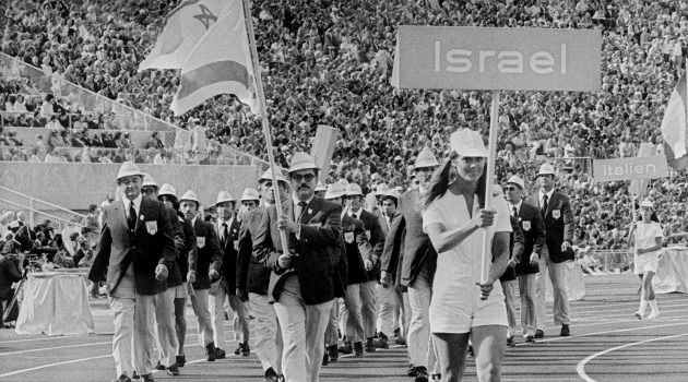 The Israeli delegation to the 1972 Munich Olympics.