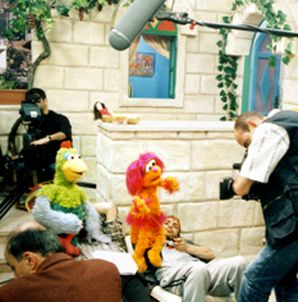 PEACE: The film documents the making of 'Sesame Stories,' a series that promotes peace in the Middle East.