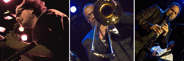 Quality Tunes: Left to right: Josh Dolgin, Fred Wesley and David Krakauer getting down and funky in New York.